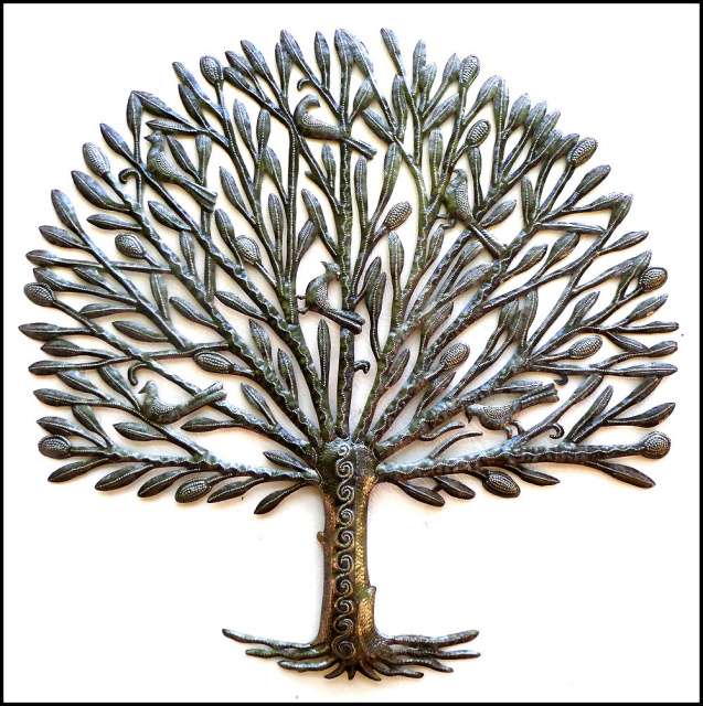 421-Tree_-_Haitian_steel_drum_metal_art